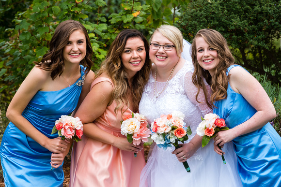 Port Townsend Wedding-Bride and her Bridesmaids